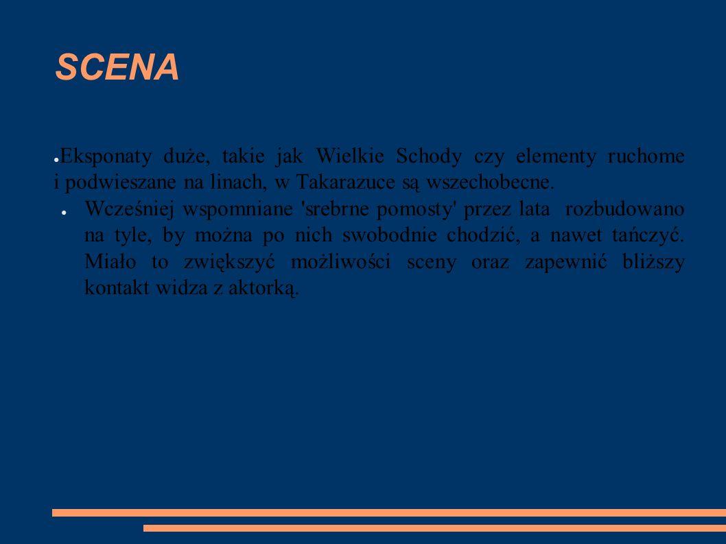 SCENA ● Eksponaty duże, takie jak Wielkie Schody czy elementy ruchome i podwieszane na linach, w Takarazuce są wszechobecne. ● Wcześniej wspomniane 's
