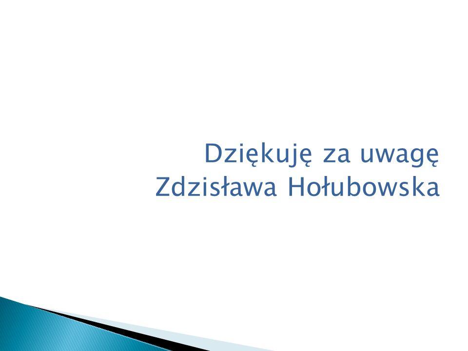 Dziękuję za uwagę Zdzisława Hołubowska