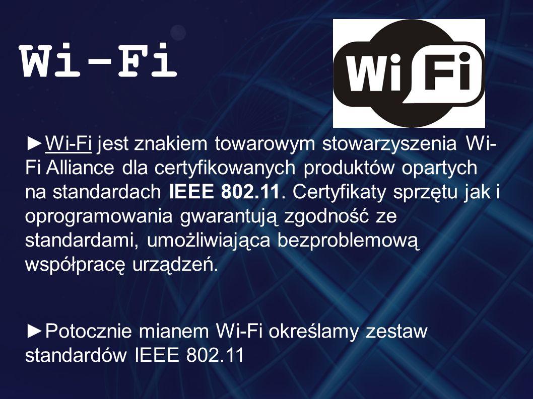 ►Ponieważ IEEE zajmuje się tylko ustalaniem standardów.