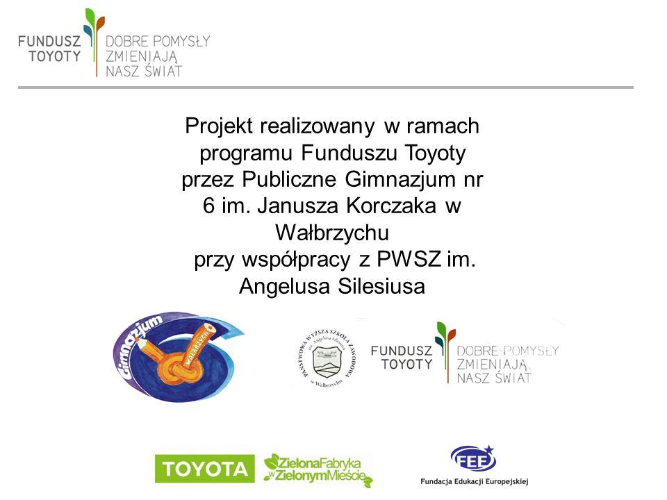 date 19/09/2016 - page 2 Projekt realizowany w ramach programu Funduszu Toyoty przez Publiczne Gimnazjum nr 6 im.