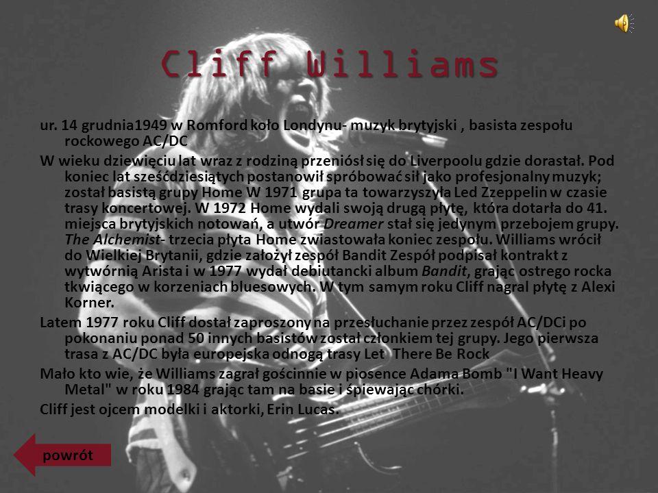 Cliff Williams ur.