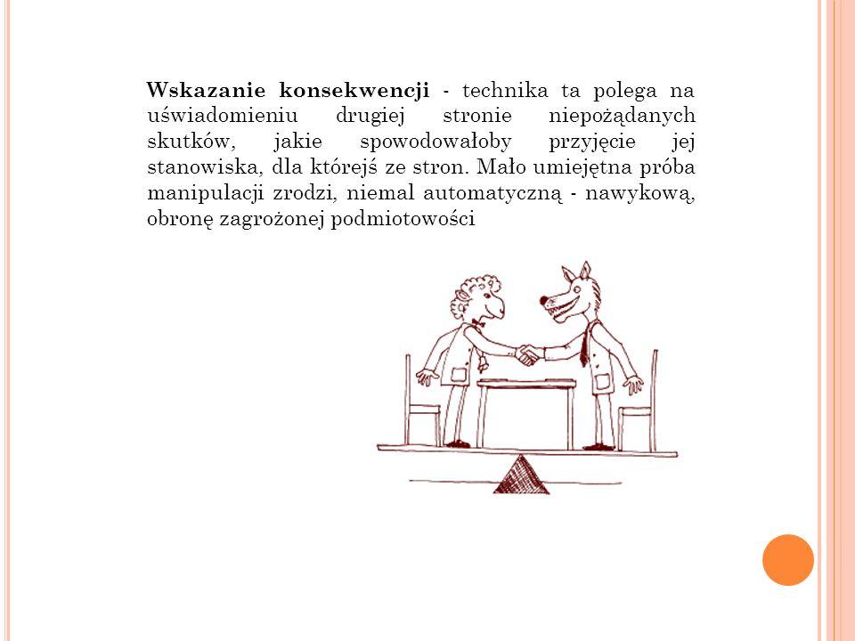 BIBLIOGRAFIA Nierenberg G.I., Sztuka negocjacji, Studio Emka, Warszawa 1997.