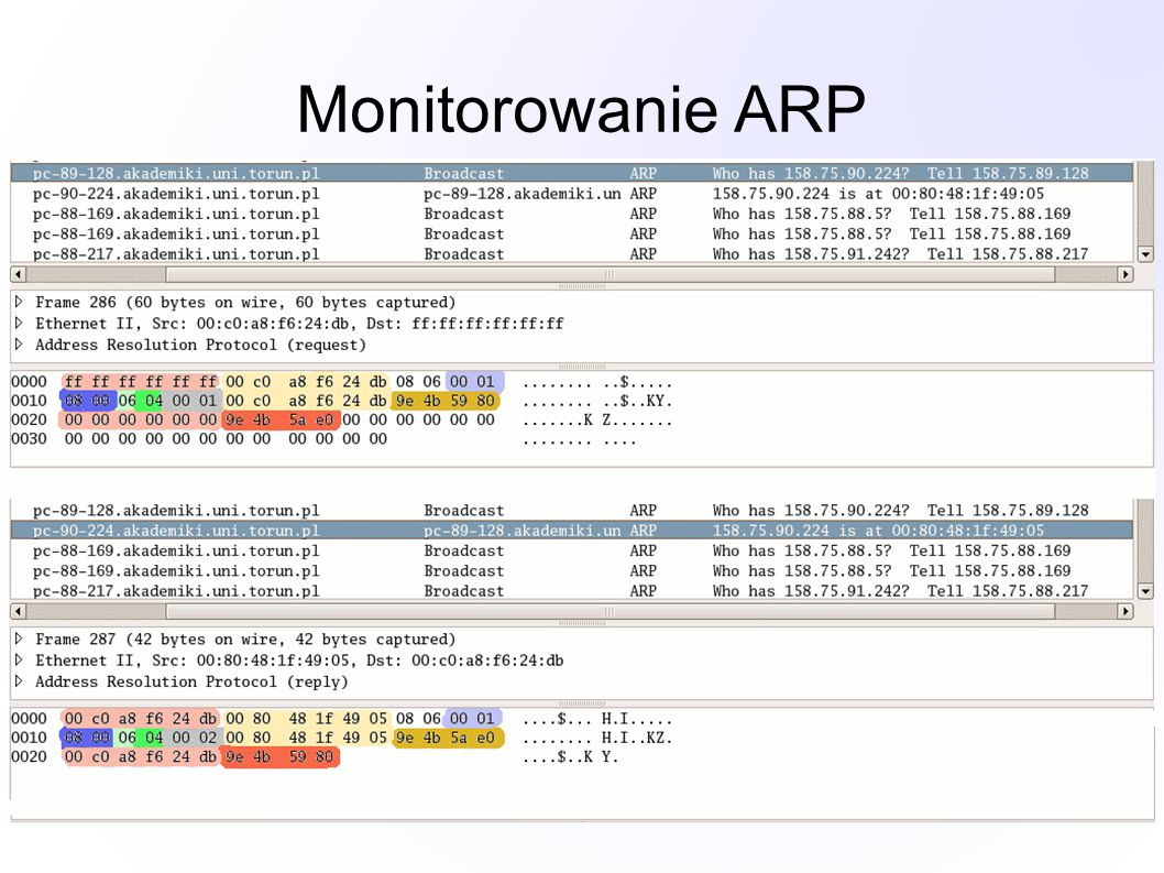 Monitorowanie ARP