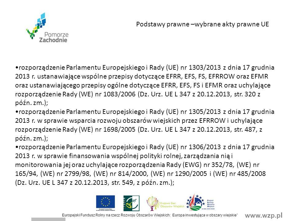 www.wzp.p l Europejski Fundusz Rolny na rzecz Rozwoju Obszarów Wiejskich: Europa inwestująca w obszary wiejskie Koszty kwalifikowalne (1) Koszty które są uzasadnione zakresem operacji, niezbędne do osiągnięcia jej celu oraz racjonalne i obejmują koszty: 1)ogólne, o których mowa w art.