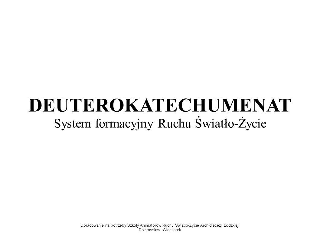 DEUTEROKATECHUMENAT System formacyjny Ruchu Światło-Życie Opracowanie na potrzeby Szkoły Animatorów Ruchu Światło-Życie Archidiecezji Łódzkiej: Przemy