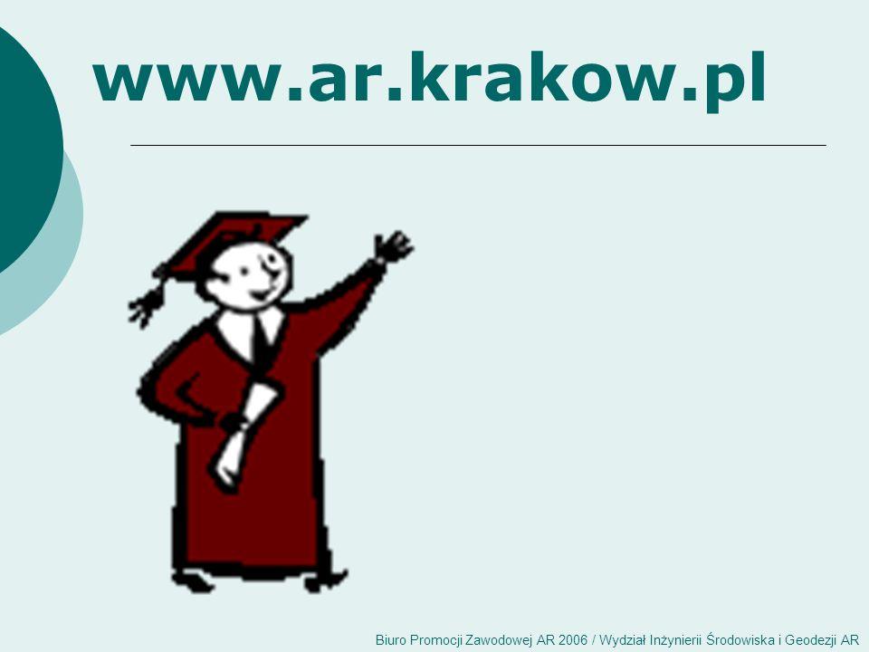 Biuro Promocji Zawodowej AR 2006 / Wydział Inżynierii Środowiska i Geodezji AR www.ar.krakow.pl