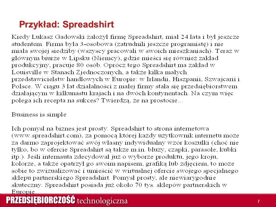 7 Przykład: Spreadshirt