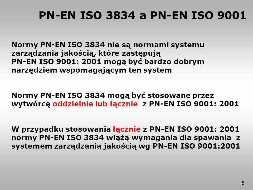 66 Dokumenty zalecane normą wyrobu – badania ISO 3834-5 (skróty tytułów) WUDT UC/2003 134451348012952AD2000 ISO 17636 RT EN 1435 ISO 17637 VT EN 970 x ISO 17638 MT EN 1290 ISO 17639 makro / mikro EN 1321 x ISO 17640 UT EN 1714 x ISO 17635 zasady ogólne EN 12062xxxx