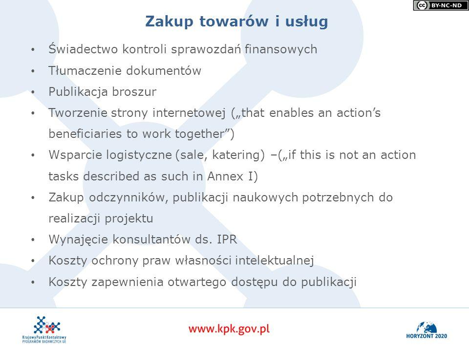 """Zakup towarów i usług Świadectwo kontroli sprawozdań finansowych Tłumaczenie dokumentów Publikacja broszur Tworzenie strony internetowej (""""that enable"""