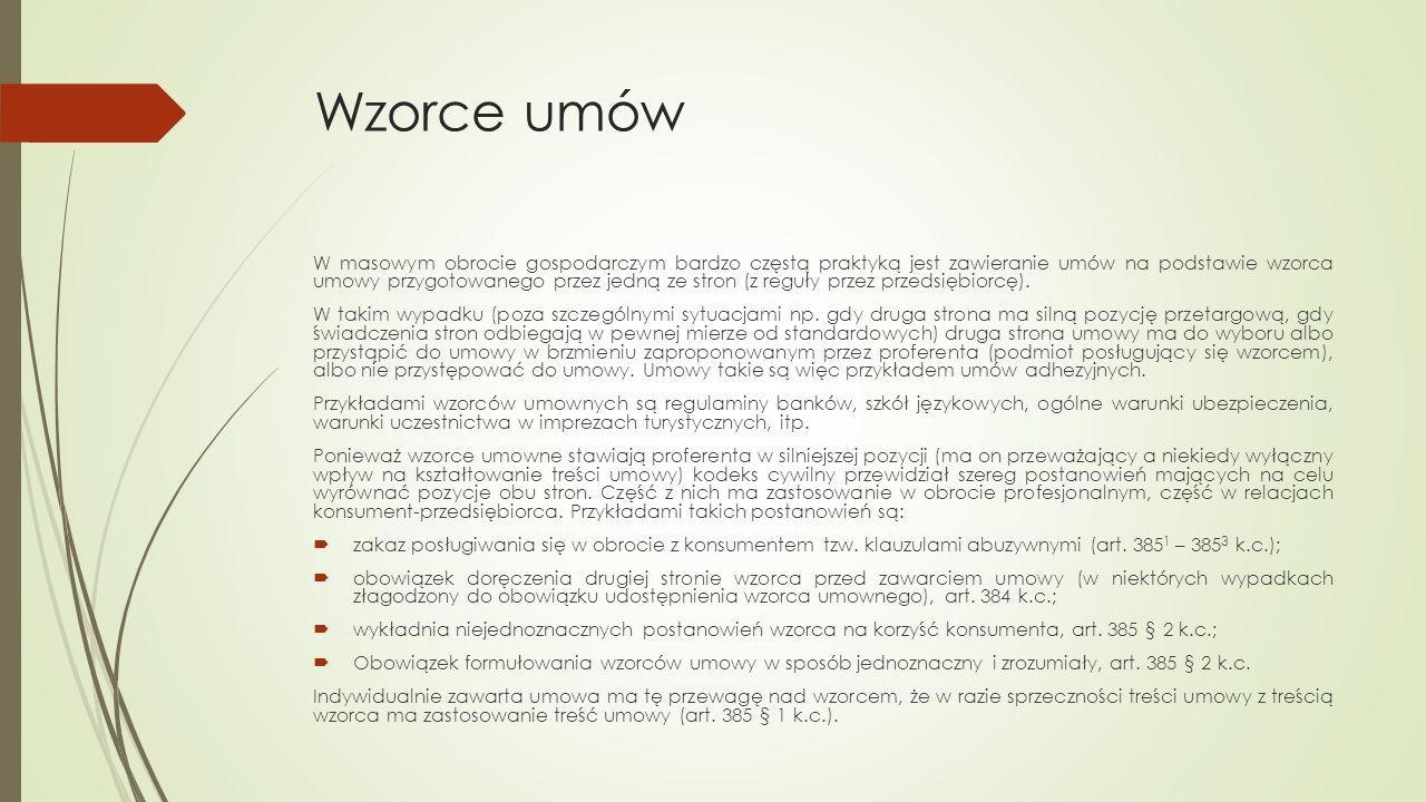 Umowy nazwane i nienazwane W ramach swobody umów strony mogą tworzyć różne rodzaje umów w zależności od swoich potrzeb, nie są one ograniczone do katalogu umów wskazanego przez ustawodawcę.