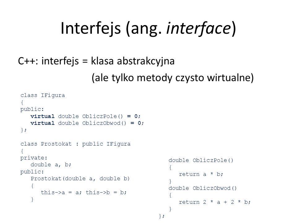 Iterator (Iterator) Zadania domowe: 1.Niech klasa Kierownik (wzorzec kompozyt) implementuje int.