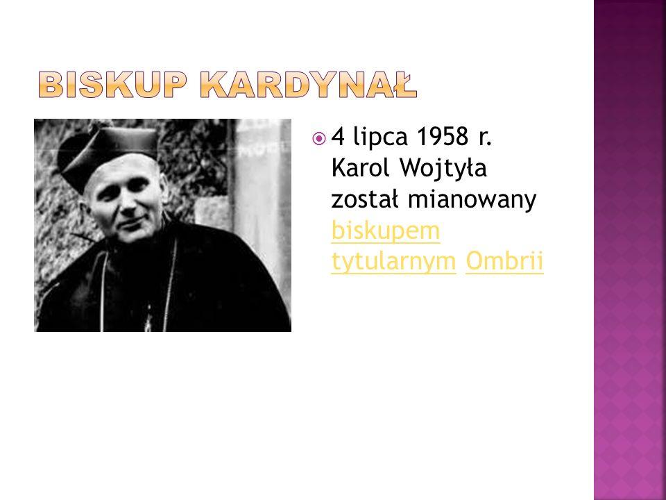  16 października 1978 Karol Wojtyła został wybrany na papieża.