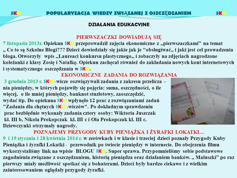 SPOTKANIA Z ŻYRAFKĄ LOKATKĄ 16 marca 2014r.