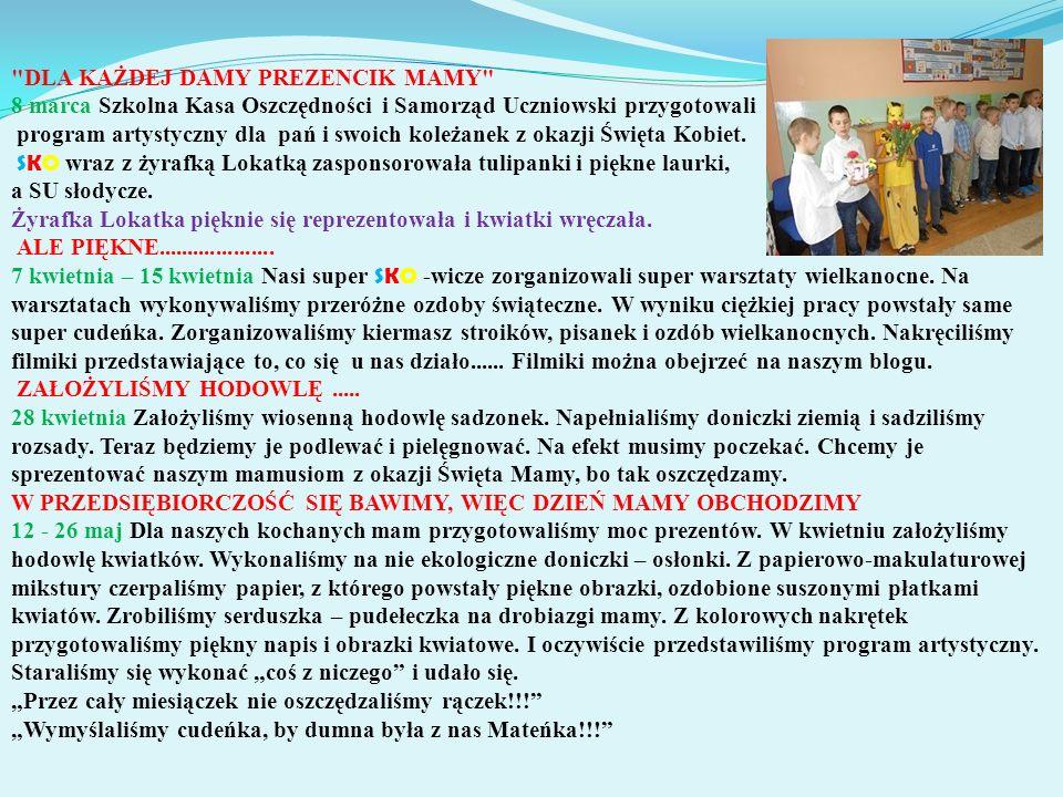 """""""NASZA SZKOŁA JEST W SKO 14 września 2013 r."""
