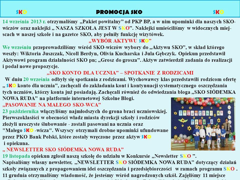 http://www.szkolneblogi.pl/blogi/siiodemka-nowa-ruda Opiekun SKO założył blog 1 października 2012 r.