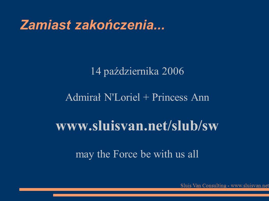 Sluis Van Consulting - www.sluisvan.net Zamiast zakończenia...