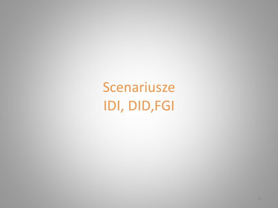 Scenariusze IDI, DID,FGI 36