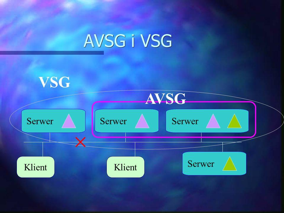 AVSG i VSG Klient Serwer VSG AVSG Klient