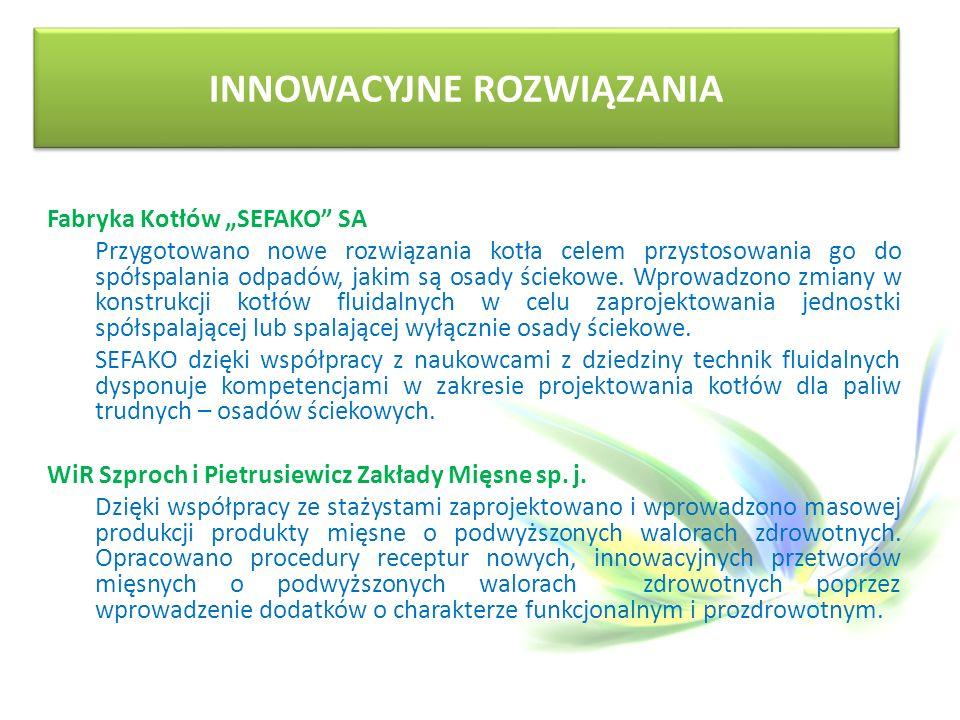 """Fabryka Kotłów """"SEFAKO SA Przygotowano nowe rozwiązania kotła celem przystosowania go do spółspalania odpadów, jakim są osady ściekowe."""