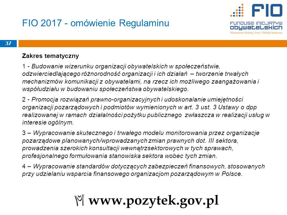 Zakres tematyczny 1 - Budowanie wizerunku organizacji obywatelskich w społeczeństwie, odzwierciedlającego różnorodność organizacji i ich działań – tworzenie trwałych mechanizmów komunikacji z obywatelami, na rzecz ich możliwego zaangażowania i współudziału w budowaniu społeczeństwa obywatelskiego.