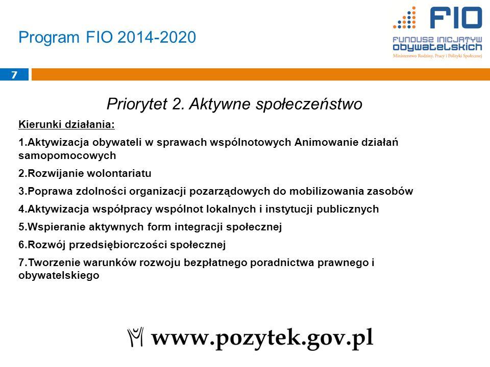 Program FIO 2014-2020 8 Priorytet 3.
