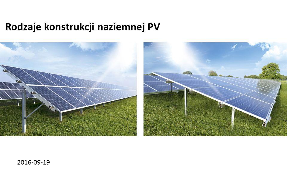 2016-09-19 Rodzaje konstrukcji naziemnej PV Konstrukcja jednopodporowaKonstrukcja dwupodporowa