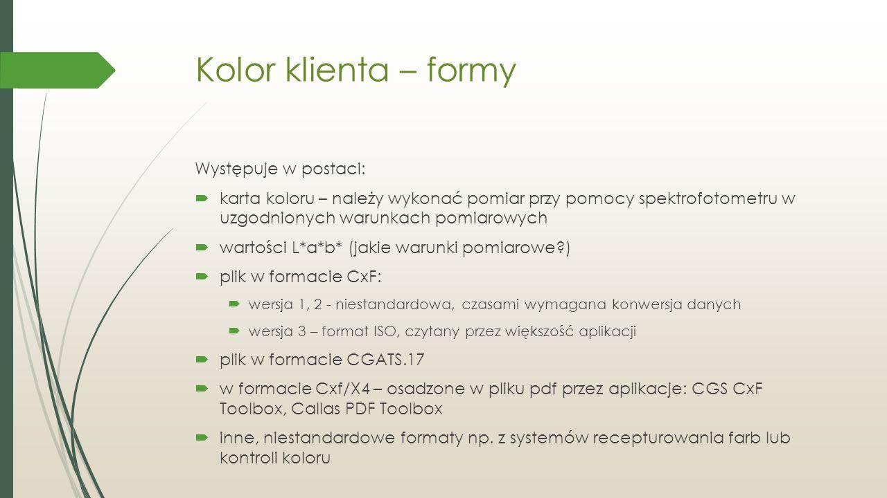 Roland LEC / Mimaki UFJ (maszyny UV)  Przestrzeń reprodukowanych kolorów jest podobna do przestrzeni drukarek solventowych  Posiadają tusz biały i lakier  Brak tuszy: pomarańcz, zielony srebrny  Możliwość druku na materiałach docelowych – tworzenie prototypów opakowań  Urządzenie Mimaki ma nieznacznie większą przestrzeń odwzorowania kolorów