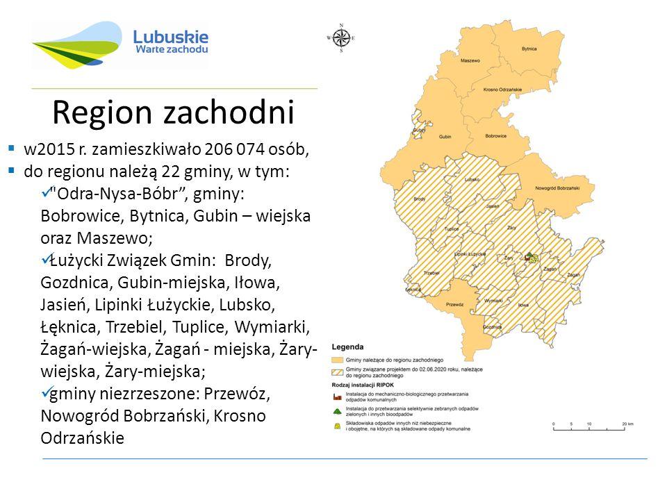 Region zachodni  w2015 r.