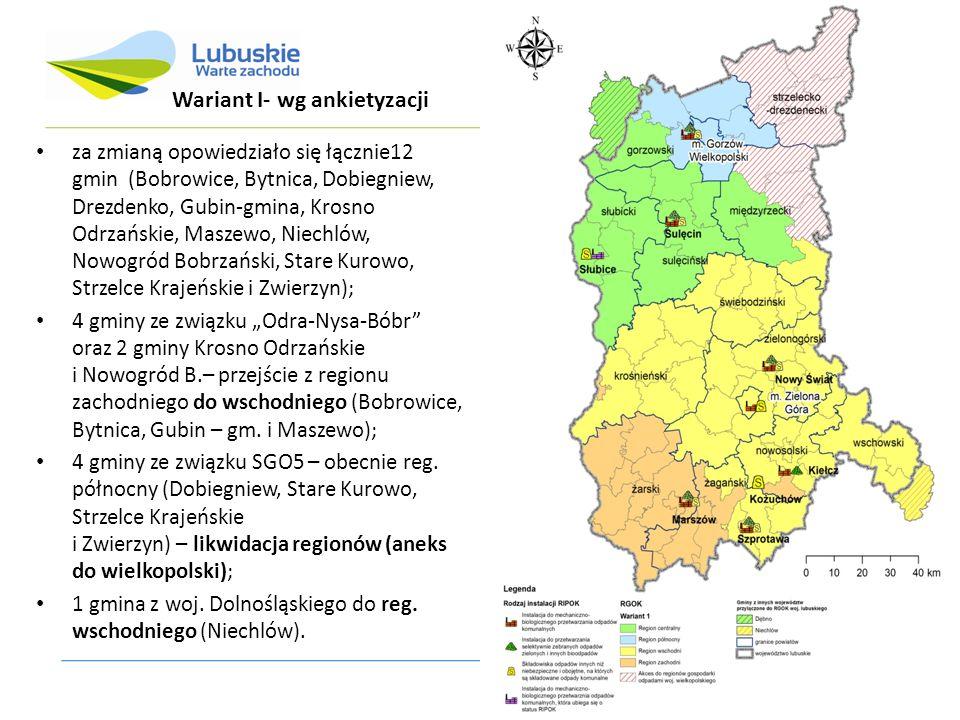 za zmianą opowiedziało się łącznie12 gmin (Bobrowice, Bytnica, Dobiegniew, Drezdenko, Gubin-gmina, Krosno Odrzańskie, Maszewo, Niechlów, Nowogród Bobr