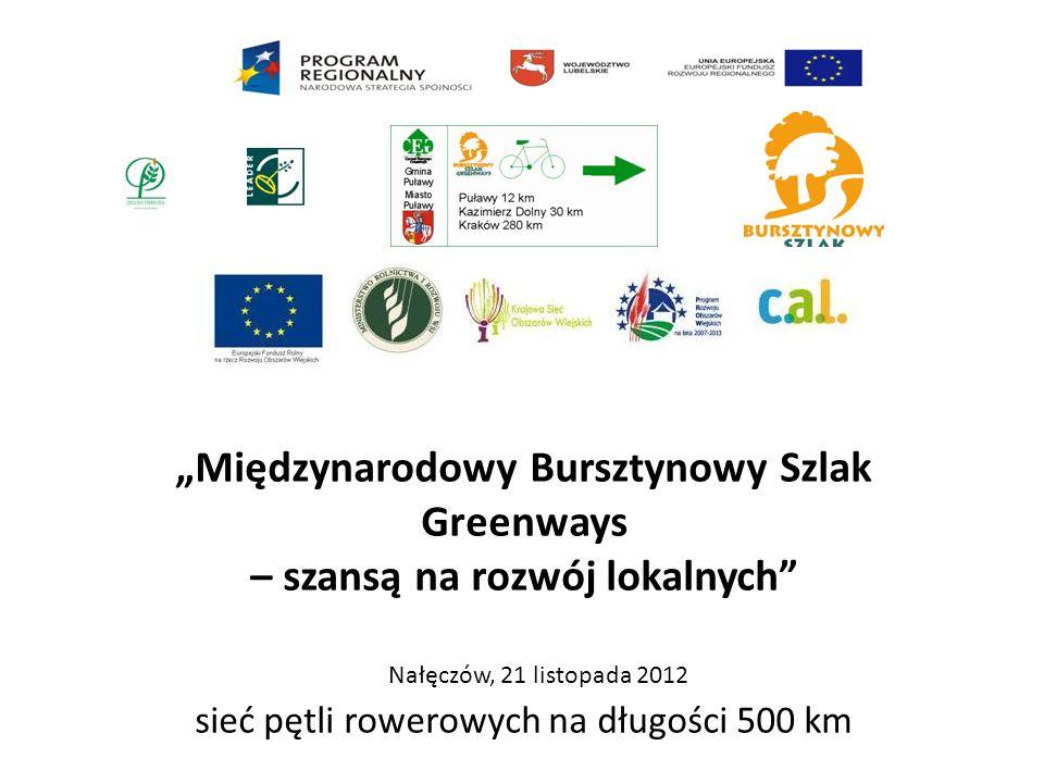 """""""Międzynarodowy Bursztynowy Szlak Greenways – szansą na rozwój lokalnych"""" sieć pętli rowerowych na długości 500 km Nałęczów, 21 listopada 2012"""