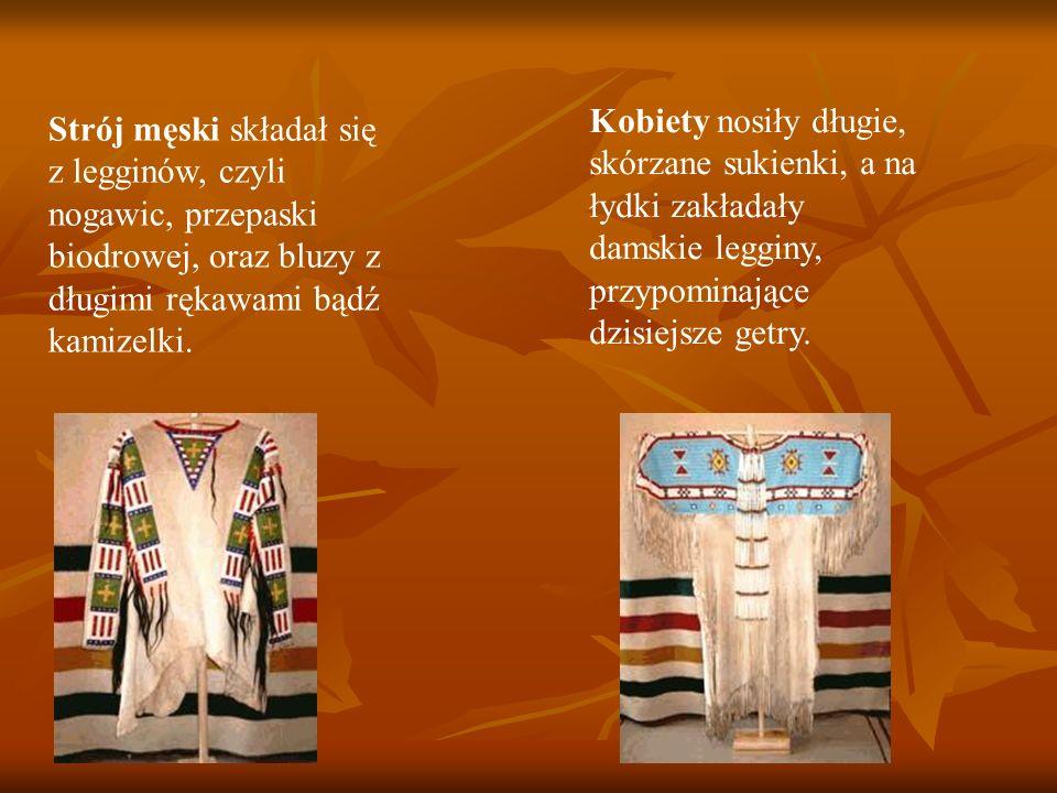 Strój męski składał się z legginów, czyli nogawic, przepaski biodrowej, oraz bluzy z długimi rękawami bądź kamizelki.