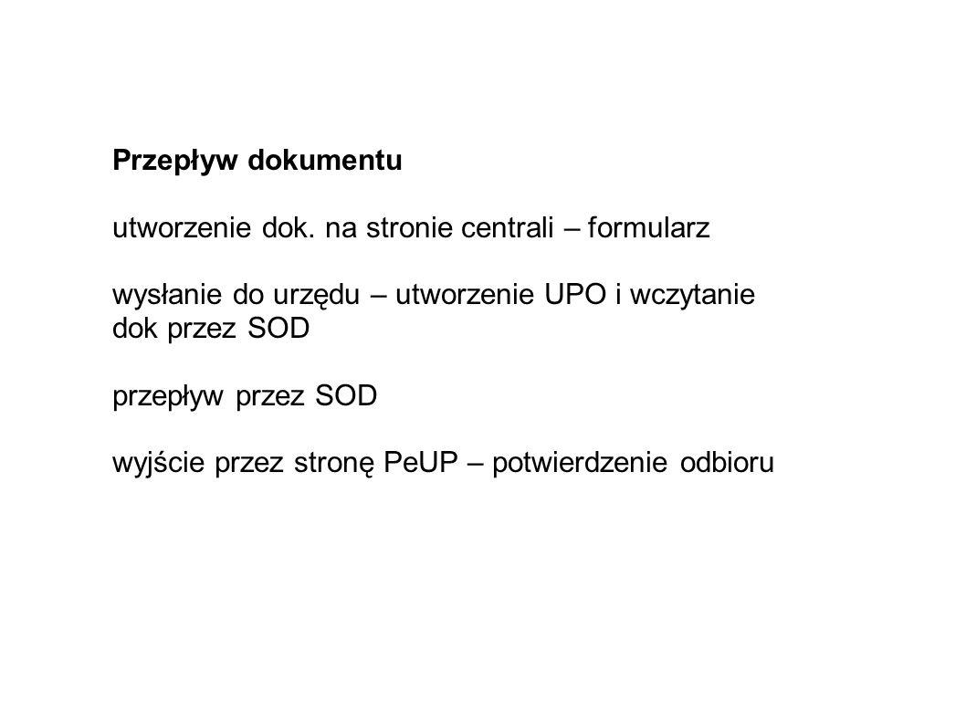 Przepływ dokumentu utworzenie dok.