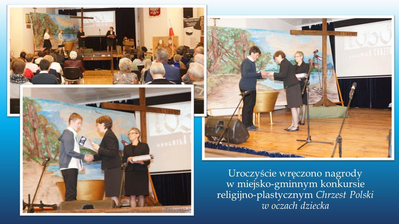 Uroczyście wręczono nagrody w miejsko-gminnym konkursie religijno-plastycznym Chrzest Polski w oczach dziecka