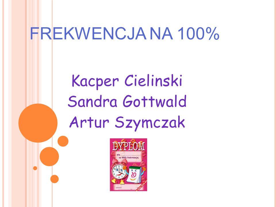 FREKWENCJA NA 100% Kacper Cielinski Sandra Gottwald Artur Szymczak