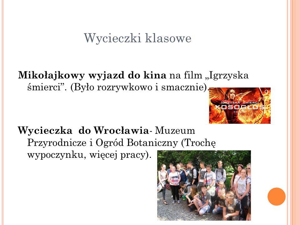 """Wycieczki klasowe Mikołajkowy wyjazd do kina na film """"Igrzyska śmierci ."""