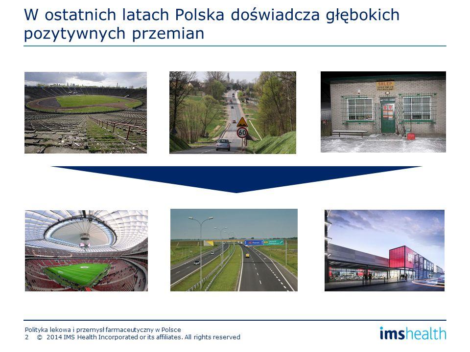 W ostatnich latach Polska doświadcza głębokich pozytywnych przemian © 2014 IMS Health Incorporated or its affiliates.