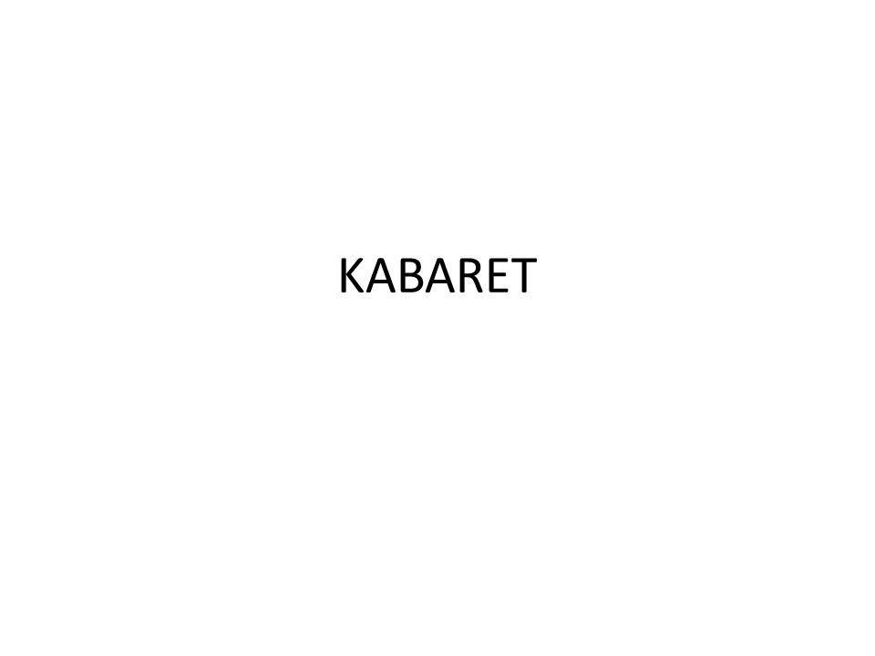 DEFINICJA Kabaret – forma sztuki widowiskowej, mająca charakter zazwyczaj satyryczny.