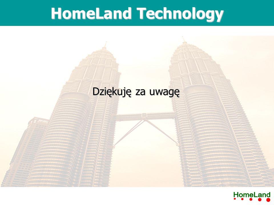 Dziękuję za uwagę HomeLand Technology