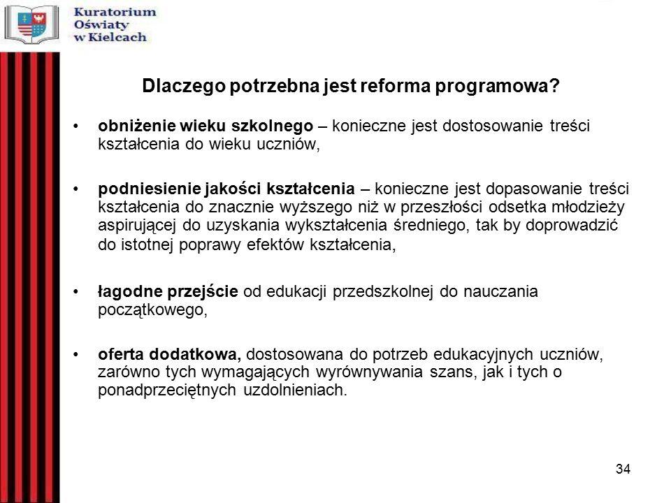 34 Dlaczego potrzebna jest reforma programowa.