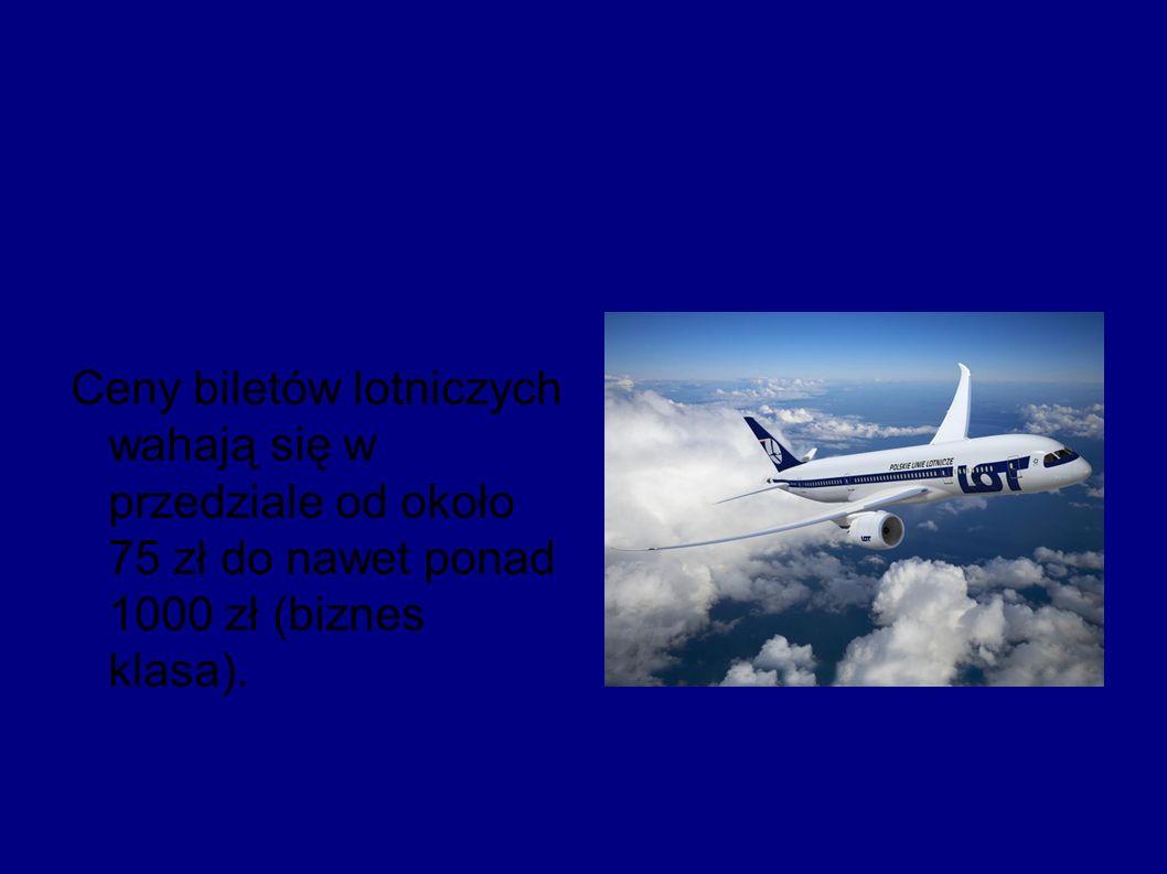 Zapewniamy że loty samolotem są bezpieczne i dostarczają dużo wrażeń :)