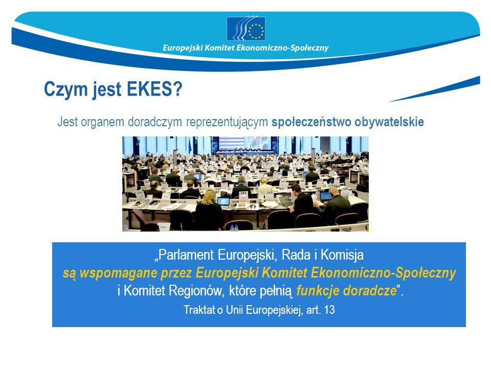 Jest organem doradczym reprezentującym społeczeństwo obywatelskie Czym jest EKES.