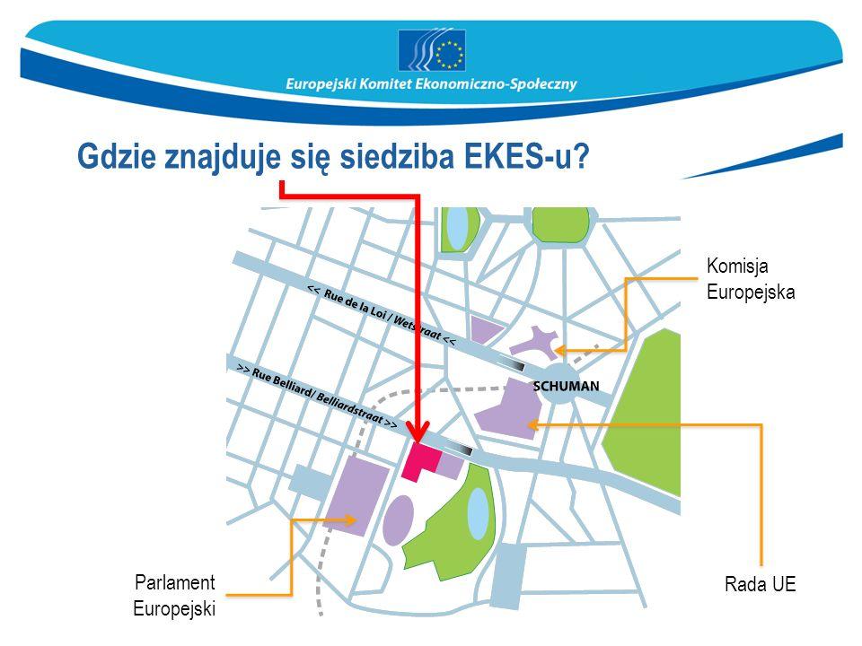 Gdzie znajduje się siedziba EKES-u? Komisja Europejska Rada UE Parlament Europejski
