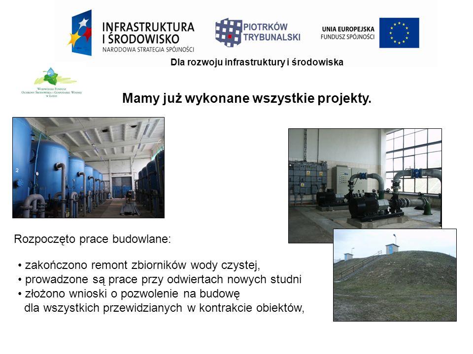 Dla rozwoju infrastruktury i środowiska Mamy już wykonane wszystkie projekty.