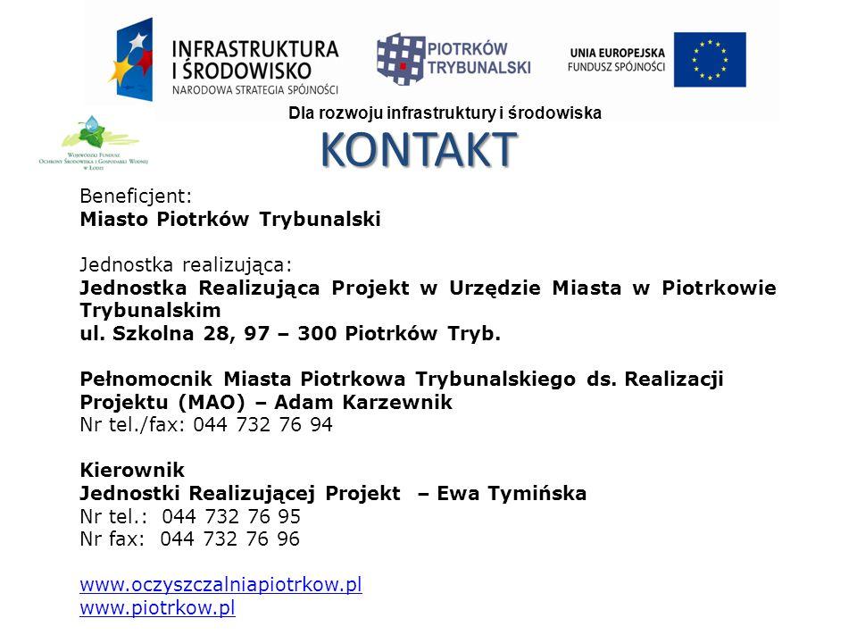 Beneficjent: Miasto Piotrków Trybunalski Jednostka realizująca: Jednostka Realizująca Projekt w Urzędzie Miasta w Piotrkowie Trybunalskim ul.
