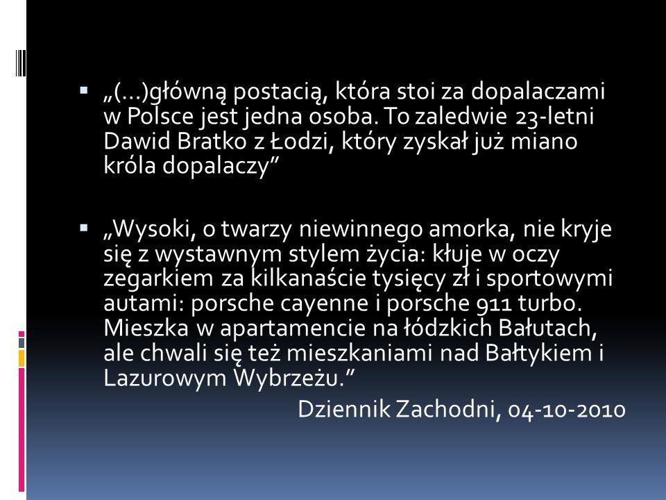 """ """"(…)główną postacią, która stoi za dopalaczami w Polsce jest jedna osoba."""