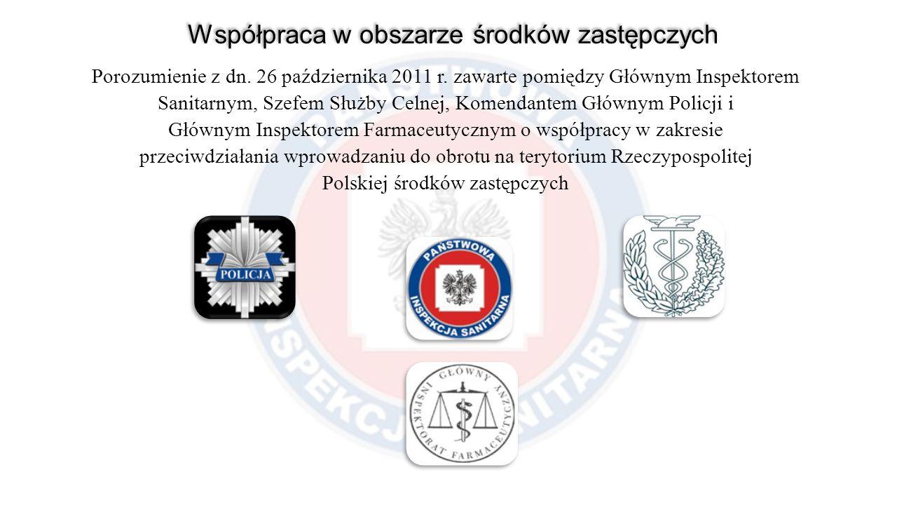 Porozumienie z dn. 26 października 2011 r. zawarte pomiędzy Głównym Inspektorem Sanitarnym, Szefem Służby Celnej, Komendantem Głównym Policji i Główny