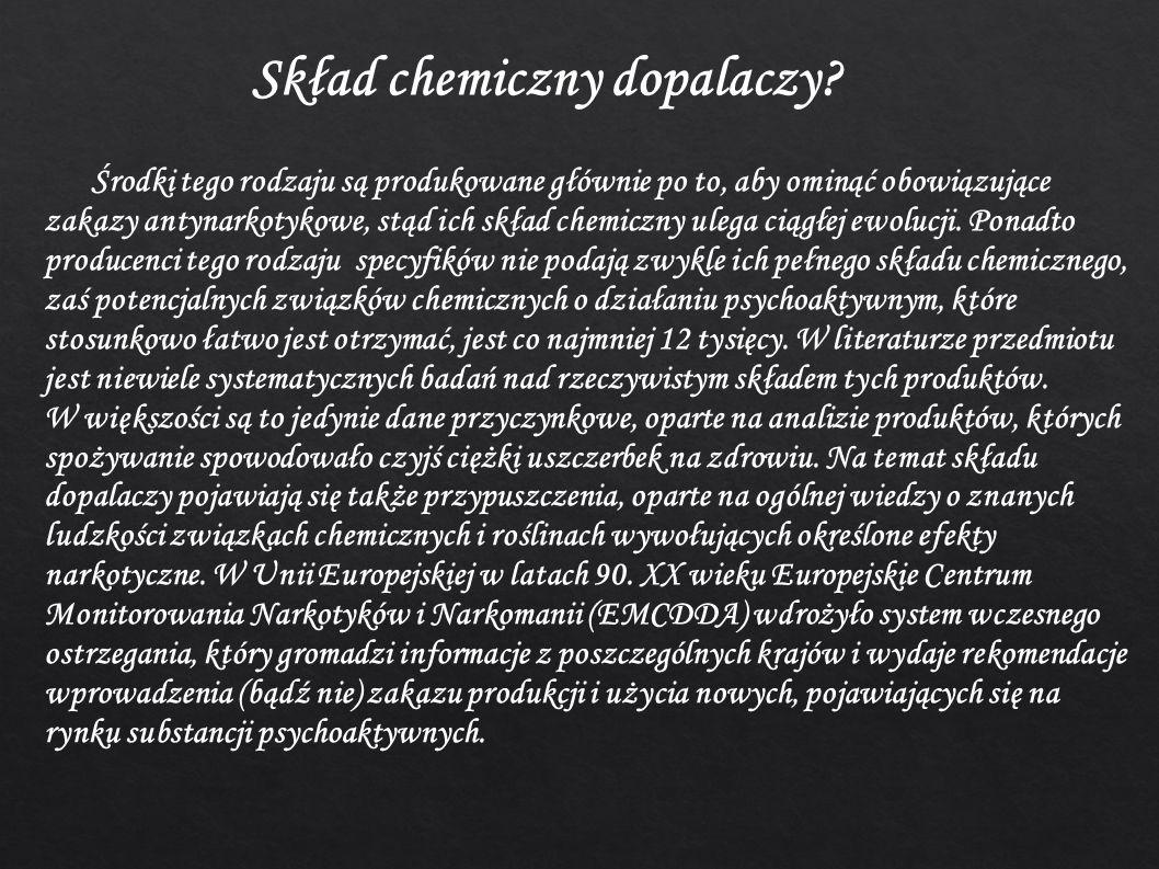 Skład chemiczny dopalaczy.