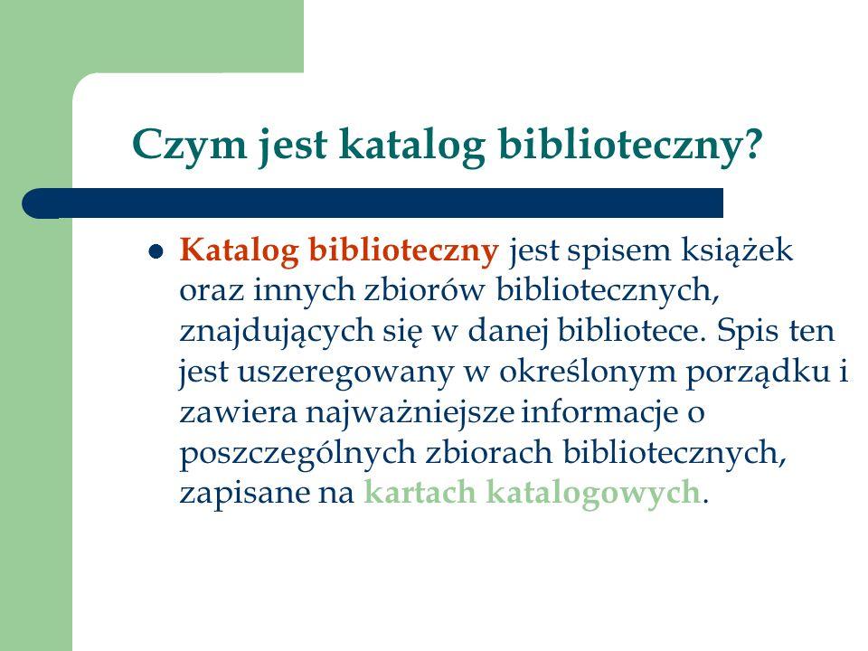 Czym jest katalog biblioteczny.