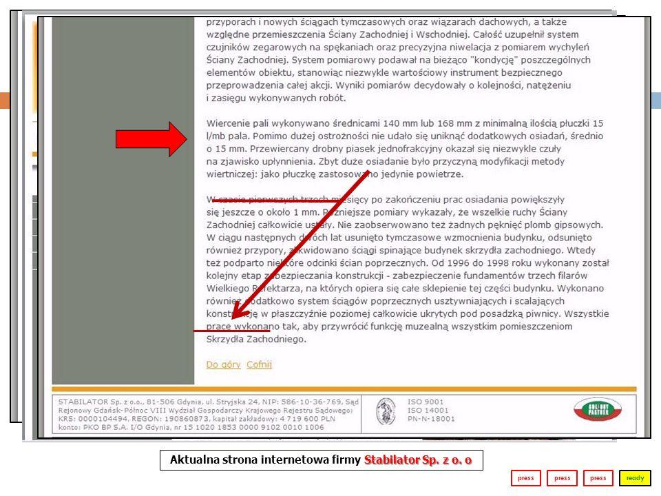 readypress Stabilator Sp. z o. o Aktualna strona internetowa firmy Stabilator Sp. z o. o