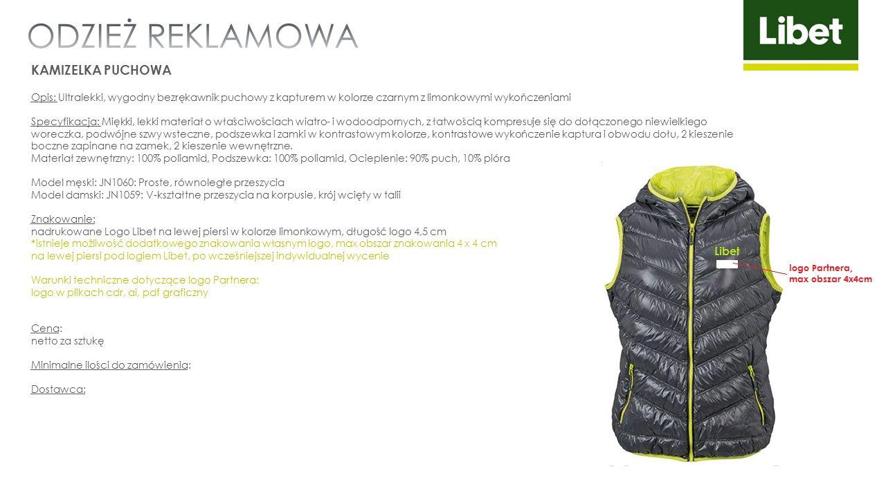 KAMIZELKA PUCHOWA Opis: Ultralekki, wygodny bezrękawnik puchowy z kapturem w kolorze czarnym z limonkowymi wykończeniami Specyfikacja: Miękki, lekki m